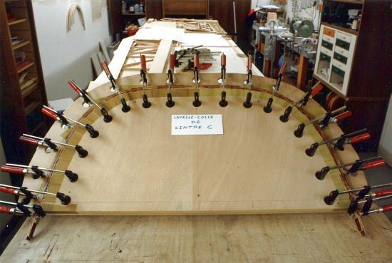 Fabrication d 39 un lamell coll de cintre c - Assemblage lamelle colle ...