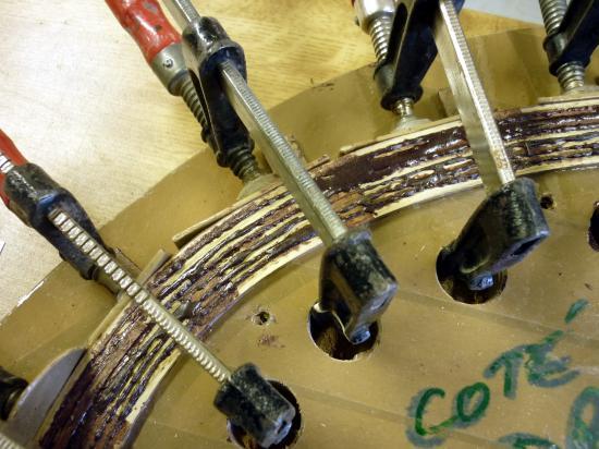 D tail des 7 couches de lamell coll de cintre avant - Assemblage lamelle colle ...